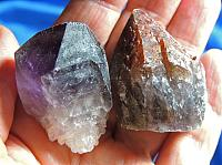 Interesting Pair – Indigo Quartz and Chevroned Amethyst