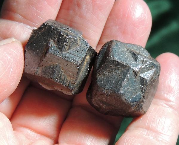 Pair of Amazing Iron Crosses - Pseudomorph Goethite after Twin Pyrite