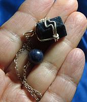 Unusual Record Keeper Sapphire Pendulum