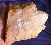 Heavenly Pink Petalite with Intense Golden Healer Coloring for Altar