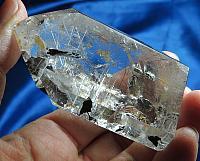 Dynamic Polished Rare Stibnite in Quartz Standing Point