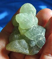 Lovely Green Dream Weaver Prehnite Bubble Cluster with Epidote