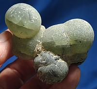 Lovely Green Dream Weaver Prehnite Bubble Cluster with Epidote, Golden Healer