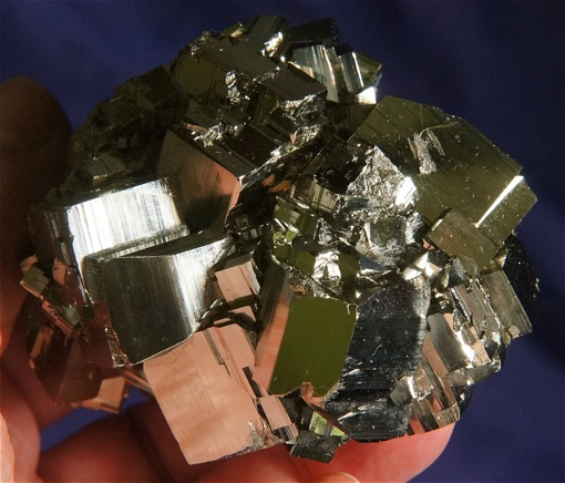 AAA Magnificent, Intense and Energetic Cubic Pyrite Cluster
