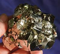 Magnificent, Intense and Energetic Cubic Pyrite Cluster