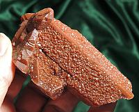 Heavily-Drused and Intense Red Quartz - Morocco
