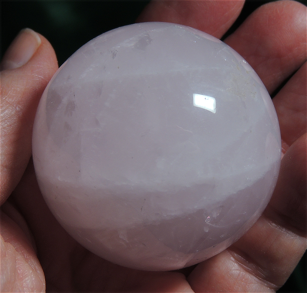 Delicate and Sweet Pink Rose Quartz Sphere with Stand