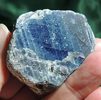 Gorgeous Blue Brazilian Sapphire with Embedded Mica