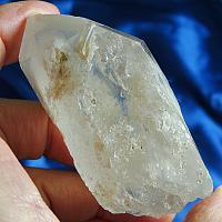 """All Natural White Lodelite (Chlorite) Phantom """"Snow"""" Quartz"""
