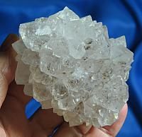 Amazing Quartz Stalactite with Cacoxenite