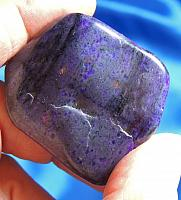 Stunning Purple Sugilite Freeform with Manganese and Bustamite