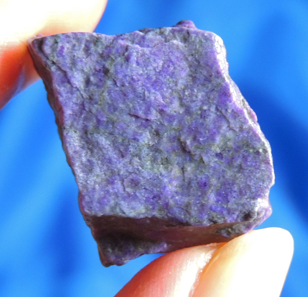 Surreal Purple Sugilite with Spotted Manganese