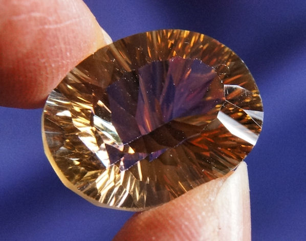 Faceted Mystic Golden Topaz