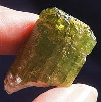 Vivid Lime Green Tourmaline with Lepidolite