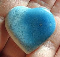Gorgeous Shades of Blue and White Trolleite Pocket Heart