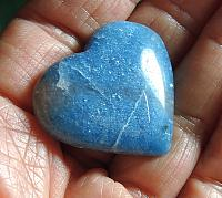 Beautiful Shades of Blue Trolleite Pocket Heart