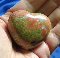 Lovely Unakite Jasper Heart