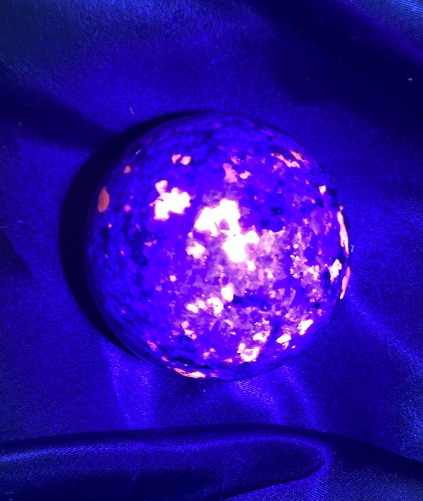 Speckled Yooperlite Syenite Fluorescent Sodalite Sphere
